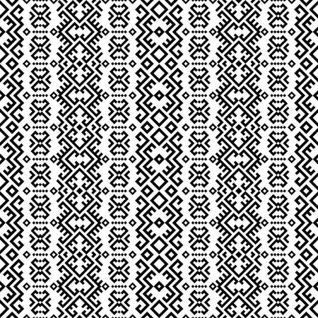 Ethnic persian seamless pattern motifs design vector in black white color Ilustrace