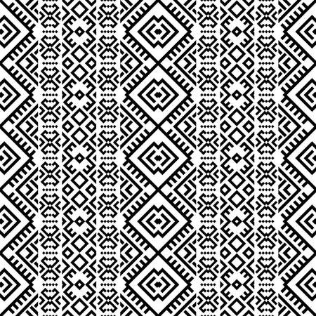 Moroccan motif pattern illustration vector in black white color Ilustrace