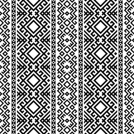 Ethnic persian seamless pattern motifs design vector in black white color 向量圖像