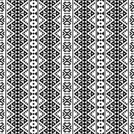 tribal ethnic pattern motif texture background design in black white color