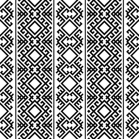 persian pattern motif texture background in black white color