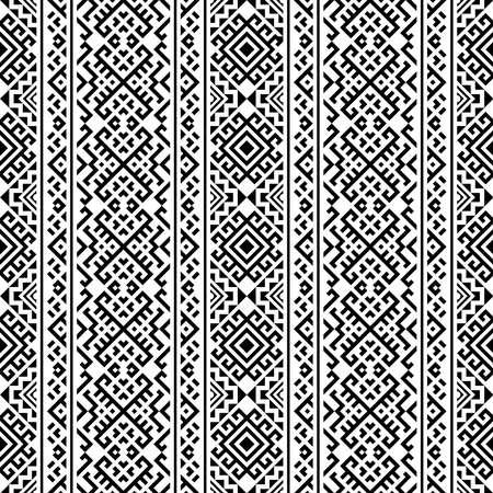 Monochrome Vertical ethnic seamless pattern texture design vector Ilustração