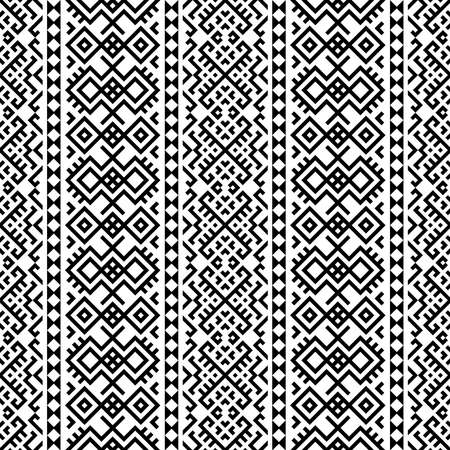 Monochrome ethnic motif pattern texture background design vector Ilustração