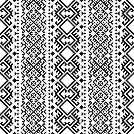 Traditional motif ethnic seamless pattern texture design background vector