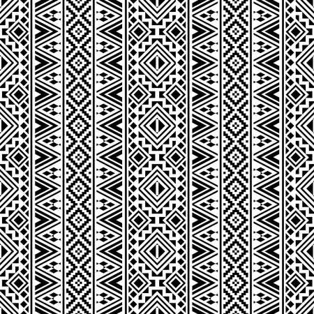 vertical monochrome seamless ethnic pattern texture design vector Ilustração