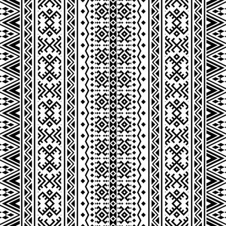 Seamless ethnic pattern texture background in tribal motif illustration vector