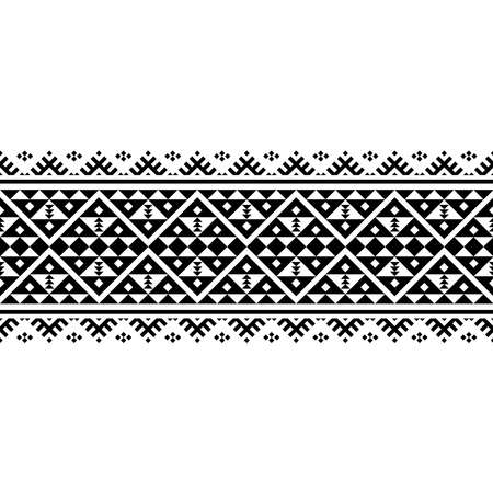Stripe traditional motif ethnic pattern texture in black and white color