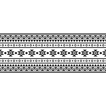 stripe ethnic pattern texture design vector in black white color