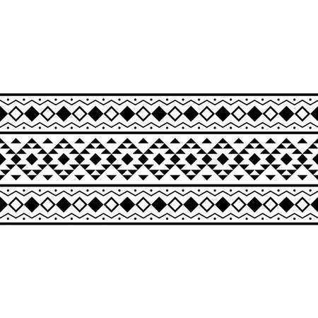 Stripe traditional motif pattern in black white color 向量圖像