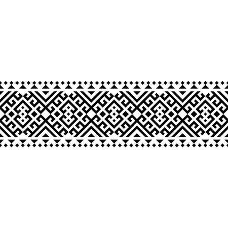 Stripe aztec motif pattern texture design vector in black white color 向量圖像