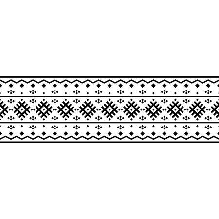 traditional motif stripe ethnic pattern in black white color