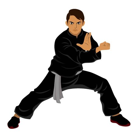 Vector of Silat Martial Arts from Indonesia