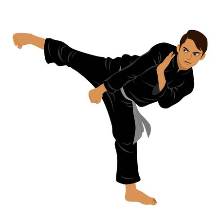 Vector of Silat Martial Arts from Indonesia - Pose 7