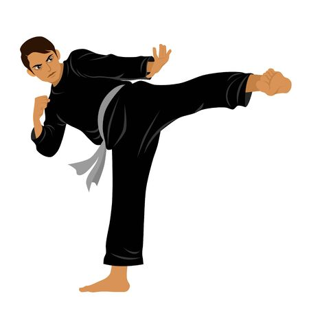 Vector of Silat Martial Arts from Indonesia - Pose 9