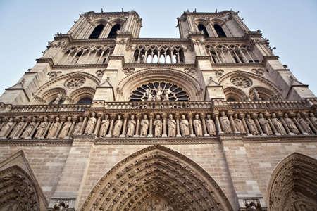 catholicism: catholicism, stone, sculpture, river, chapel, cathedrale, paris, urban, built Stock Photo