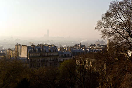 The picture is made in Paris on a hill Montmartre photo