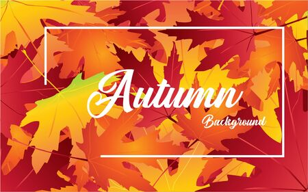 Autumnal background in red, orange and yellow colors. Design for web, wallpaper. Vector illustration.
