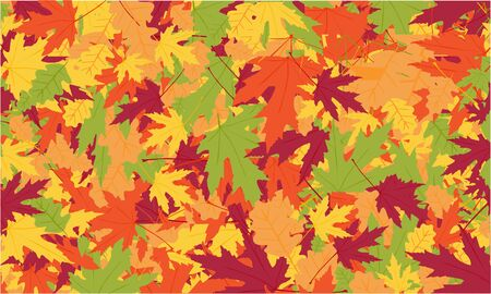 Beautiful Autumnal vector background in red, orange and yellow colors. Design for web, wallpaper. Illustration