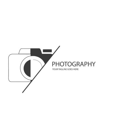 Vector graphic of logo photography