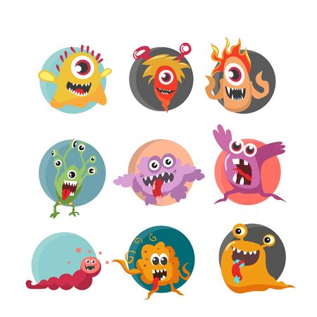 Illustration vector graphic of cute monster character 向量圖像