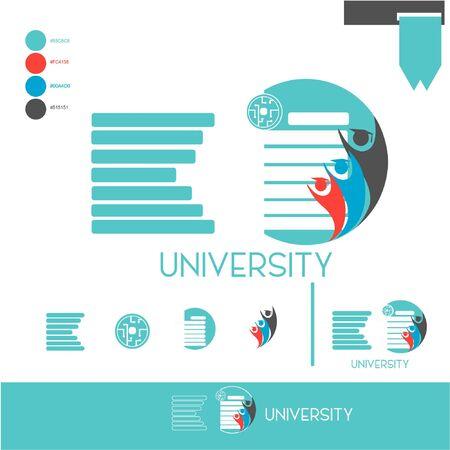 Illustration vector graphic of logo university Ilustrace