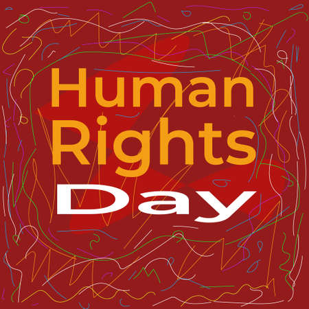 Abstract illustration of Human Rights Day. Poster Campaign Human Rights Day