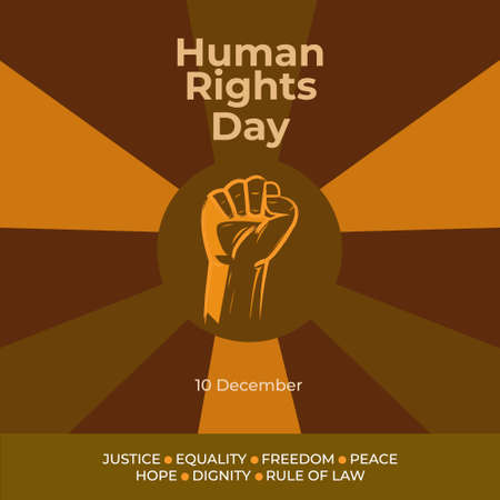Vector illustration of Human Rights Day. Poster Human Rights Day.