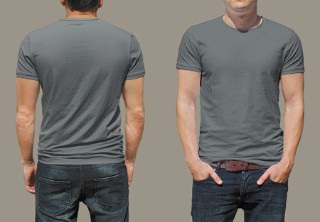 isolated on grey: T-shirt template