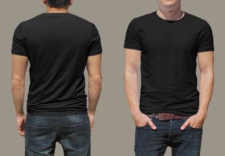 hombres negros: Plantilla de la camiseta Foto de archivo