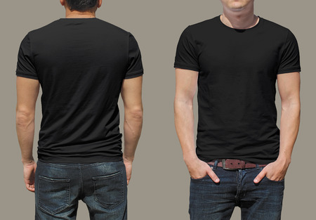 black fashion model: T-shirt template