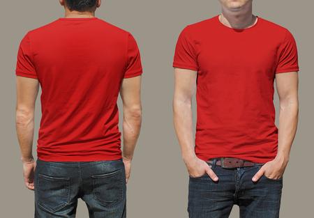 uomo rosso: T-shirt modello