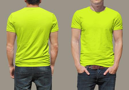 yellow shirt: T-shirt template