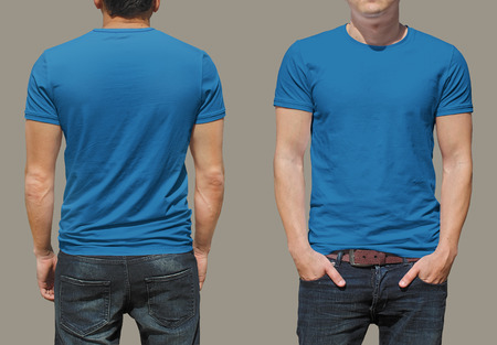 blue: T-shirt template