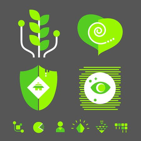information science: Technology icons Illustration