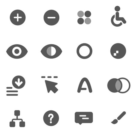 correction: Accessibility icons and color correction