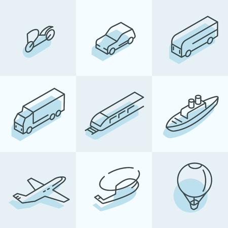 Vervoer pictogrammen Stock Illustratie