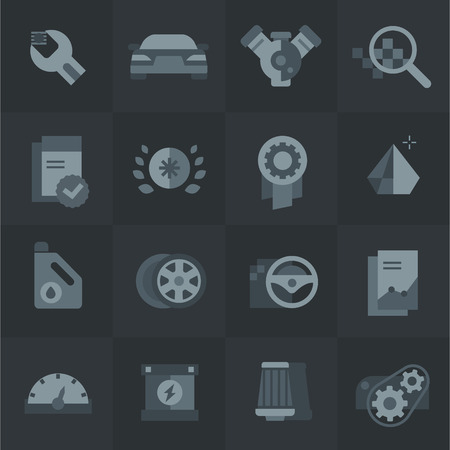 Car Purchase and Service icons