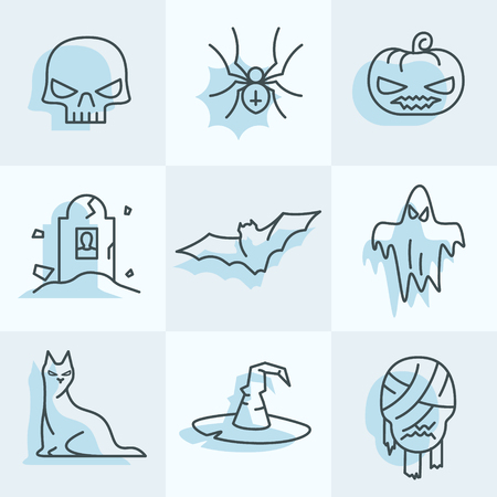 Set of Halloween icons for your holiday event