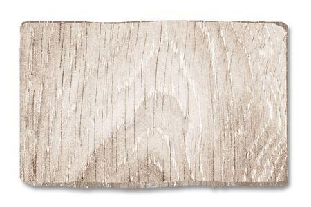白の木製看板