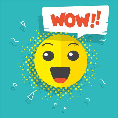 Smiley wow expression yellow face