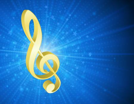3d music notes background Illustration
