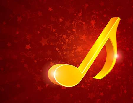 3d music notes background  Vector