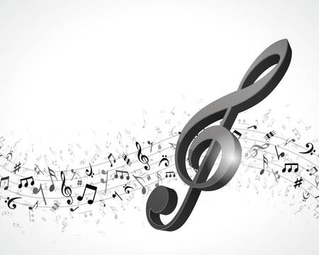 symphony orchestra: Music notes background