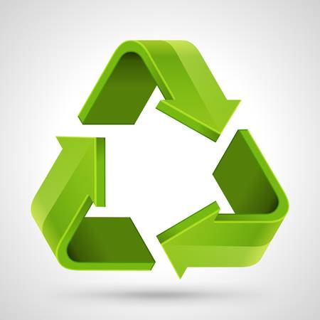 Recycle symbol icon illustration 向量圖像