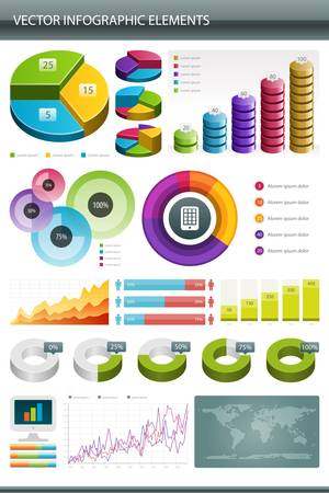 Info graphics collection  Information graphics design  Stock Vector - 13260513
