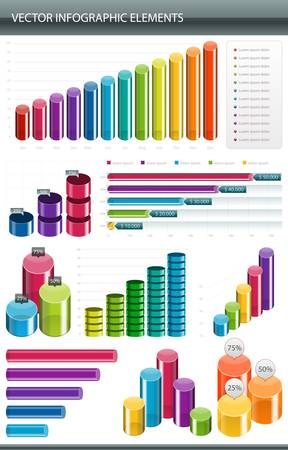 visual: Info graphics collection  Information graphics design