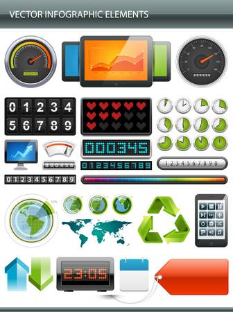 Info graphics collection  Information graphics design  Stock Vector - 13260516