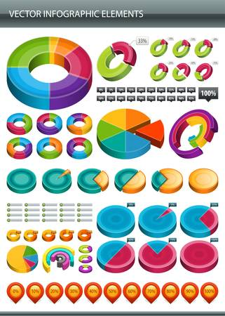 Info graphics collection  Information graphics design  Stock Vector - 13260512