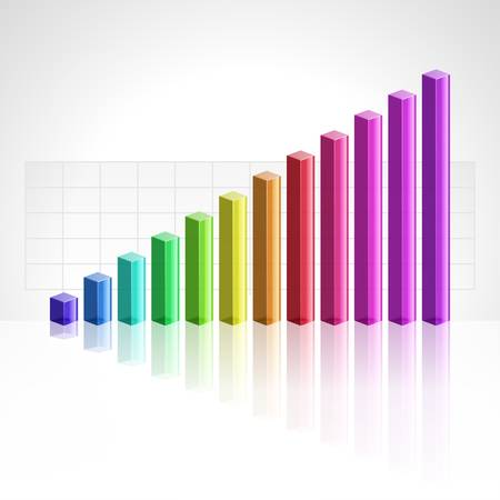 3d business graph background
