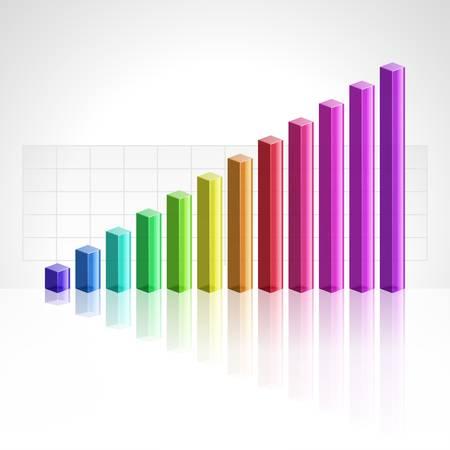 bar graph: 3d business graph background